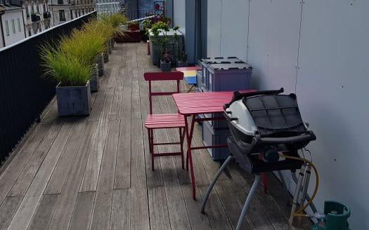 Appartement de 3 pièces en attique d'env. 85m2 avec terrasse aux Pâquis