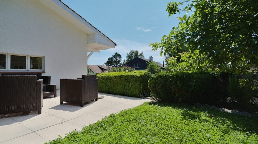 Bel appartement de 4.5 pièces d'env. 112m2 avec jardinet à Chavannes-des-Bois